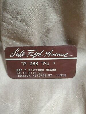 Saks Fifth Avenue Vintage Credit Card Charge Plate Collectable