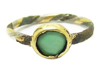15th - 16th century Medieval turquoise trinity ring in gold silver and bronze
