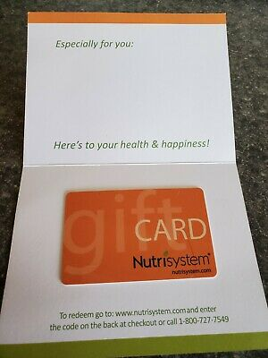 Nutrisystem $100 Gift Card Certificate Free Ship