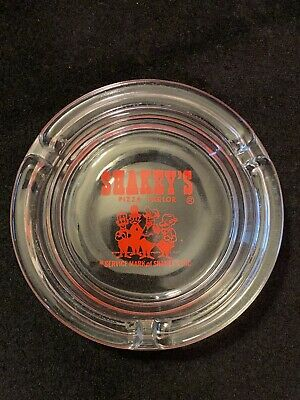 Vintage Shakey's Pizza Parlor Glass Restaurant Advertising Ashtray