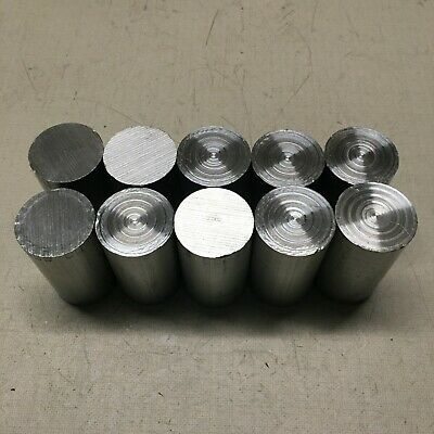 1.25 (1 1/4) Inch Diameter 6061-T651 Aluminum Bar End Scrap Lot. 10 Pieces.