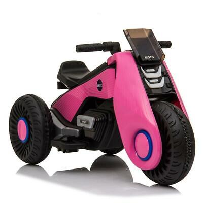 White 6V Electric Motorcycle Kids Ride on Cars Toy 3 Wheels Double Drive PINK