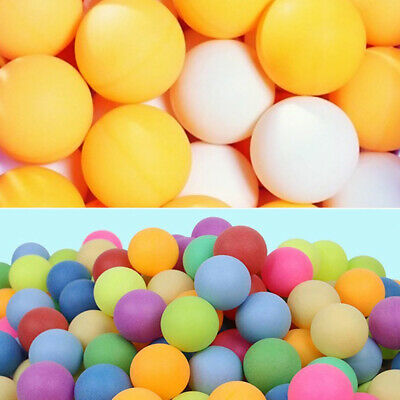 1-100X Ping Pong Balls 40mm Mixed Colours No Logo Table Tennis Beer Wholesale CW