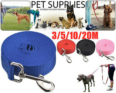 3-20 Metres Extra Long Dog Training Lead Strong Leash Large Recall Line Walking