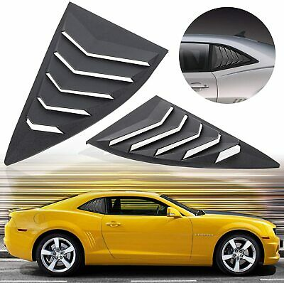 2pcs Matte Black Side Window Louvers Sun Shade Cover for Chevy Camaro 2010-2015