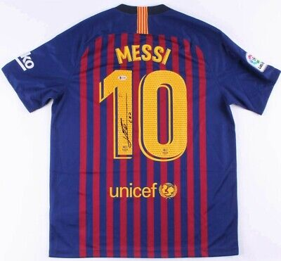 Lionel Messi Autographed Barcelona Jersey signed 2018-19 authentic  Beckett BAS