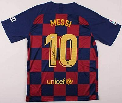 Lionel Messi Autographed Barcelona Jersey signed 2019-20 authentic  Beckett BAS