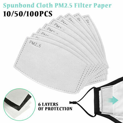 10-100X PM2.5 Filter Sheet Replacement Activated Carbon Breathing Filters Insert