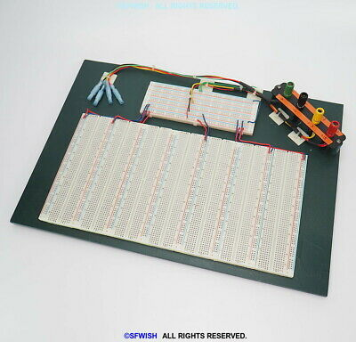 """Large Custom Made Engineering Electronic Breadboard 16""""x11"""", 5880 tie-points"""