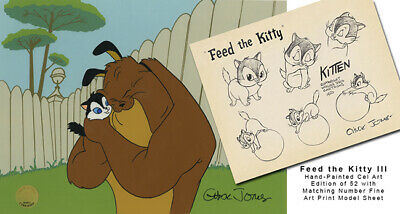 Chuck Jones Feed the Kitty III 2020 Warner Brothers Limited Edition Cel of 52