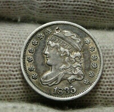 1835 Capped Bust Half Dime H10C, Nice Coin, Free Shipping (9410)