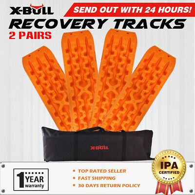 X-BULL New Recovery tracks Sand 10T 4WD Sand/Snow/Mud Off-road 2 Pairs Orange