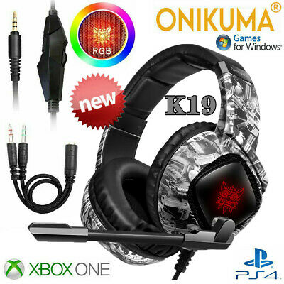 3.5mm LED Gaming Headset with Mic Stereo Surround Headphones for PS4 Xbox PC ⑤υs