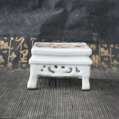 Chinese old porcelain Pink Chrysanthemum Fuguitu Small Square Table