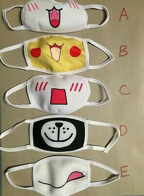 Funny Cloth face mask Anime Funny fabric reusable washable