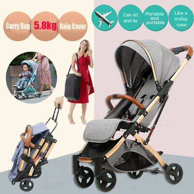 Compact Foldable Baby Stroller Portable Lightweight Travel Pram Carry On Plane