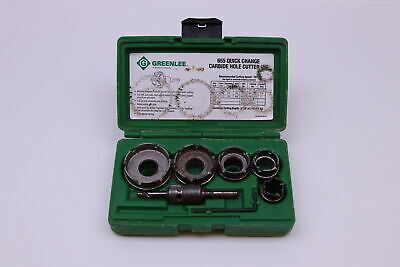 Greenlee 655 5-Pc. Quick-Change Carbide-Tipped Hole Cutter Kit