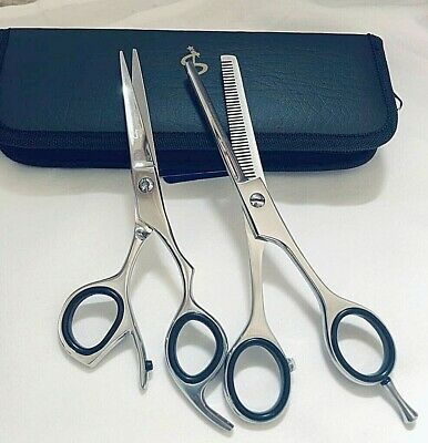 "6"" & 6.5"" Professional Hair Cutting Japanese Scissors Thinning Barber Shears Kit"