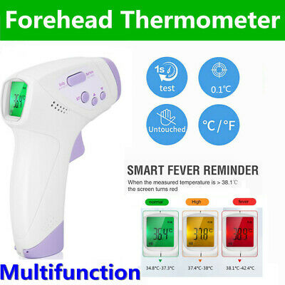 Infrared Digital Forehead Thermometer Touchless Baby Adult Temperature Gun Body
