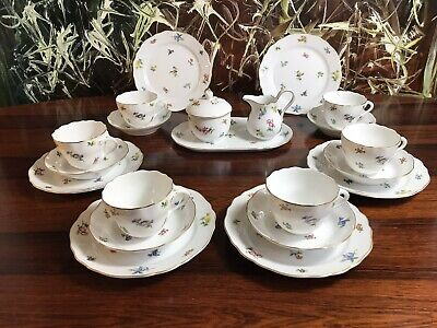HUTSCHENREUTHER Maria Theresia MIRABELL - edles 21 tlg. Kaffeeservice / 6 Pers.
