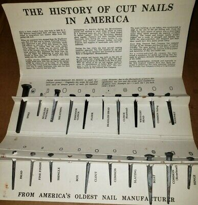 Tremont Nail Co. Old Fashioned Cut Nails Sampler Display History