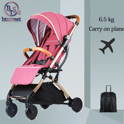 Carriage Travel System Pink Lightweight Pushchair Prams Jogger Baby strollers AU