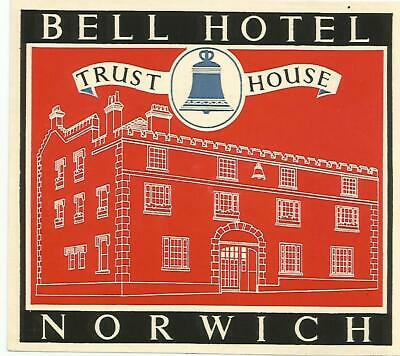 HOTEL BELL luggage label (NORWICH)