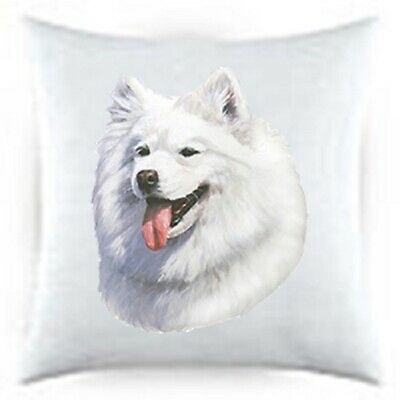 Samoyed Satin Throw Pillow LP 44077