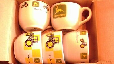 5 ceramic soup bowls John Deere tractors by gibson nothing runs like a deere