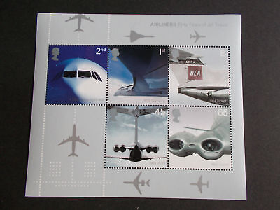 GB 2002 Commemorative Stamps~Airliners~ M/S~Unmounted Mint Set~UK