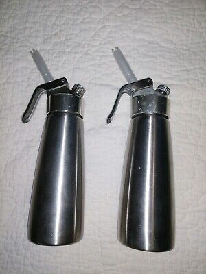 TWO ISI Whip Whipped Cream Dispenser - Aluminuml Used Qty 2