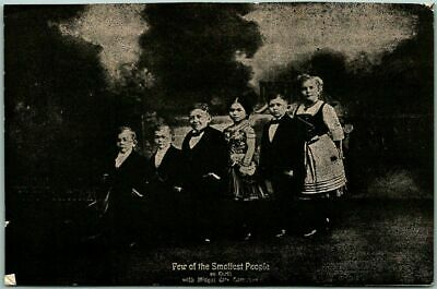 """1910s Sideshow Circus Postcard MIDGET CITY COMPANY """"Smallest People on Earth"""""""
