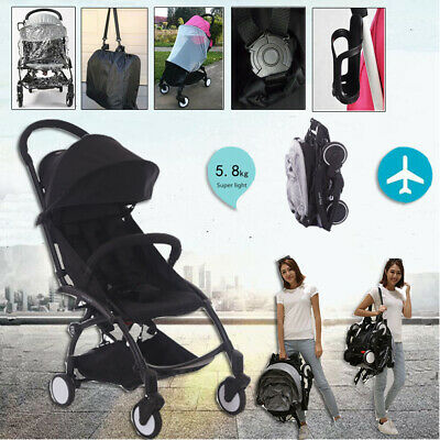 Portable Baby Stroller Kids Pushchair Carry on Plane Travel Foldable Lightweight
