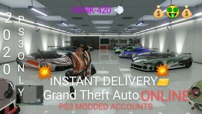 GTA 5 Fully Modded Accounts! Everything Unlocked!🔥(PS3)⚡{FRESH OUTFITS}⚡ 2020!