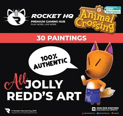 Animal Crossing: New Horizons - ALL 30 JOLLY REDD'S PAINTINGS! 100% AUTHENTIC!!!