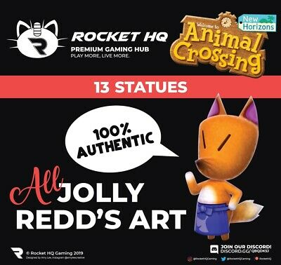 Animal Crossing: New Horizons - ALL 13 OF JOLLY REDD'S STATUES!!!