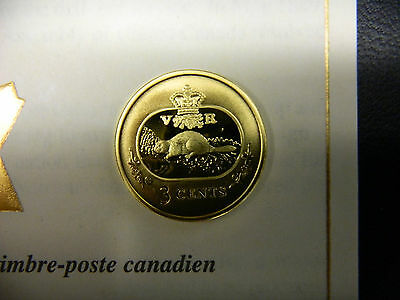 New Year Gift: 2001 Canada's Only 3 cent Silver Coin 24K Gold Plating