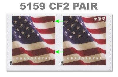 5159 (CF2) Pair Postal Counterfeit Forever Flag APU Design of 2017 MNH - Buy Now