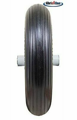 "2 PK of 14.5"" Universal 3.50-8 Flat Free T157 Ribbed Wheelbarrow Tires (Replaces"
