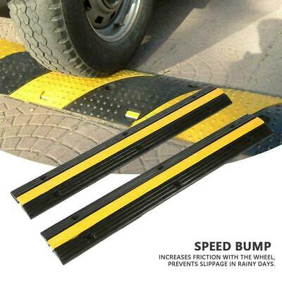 2pcs Single Channel Rubber Speed Bump Cable Protector Cover 99 x 16 x 3cm New