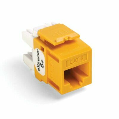 Leviton 61110-BY6 Extreme Quick Port Connector Yellow 25-Pack