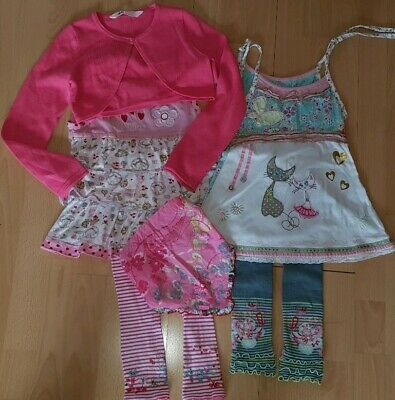 Set 6x *CAKEWALK ROOS* 128 *LiOlina* Unikate Top Kleid Leggings Bolero *LOVE CAT