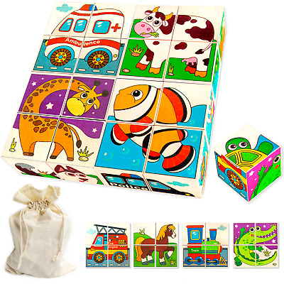 Wooden Building Blocks Set Educational Toys Stacking Kids Baby Toy New
