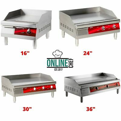Electric Commercial Countertop Steel Flat Top Griddles Grill Thermostatic Steel