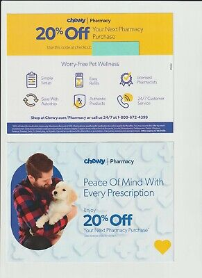 Chewy Coupon Code - 20% Off Pharmacy Purchase - Pet Rx Prescription Medications