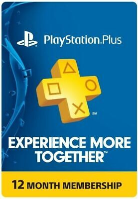 PlayStation Plus Membership Card - Subscription 1 Year 12 Month US