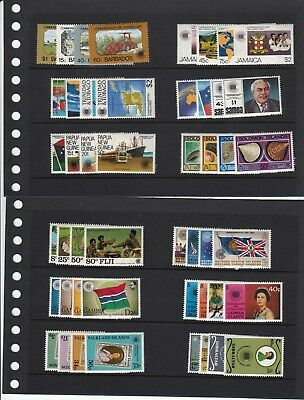 1983 Commonwealth Day Stamp Collection - 223 MNH Stamps + 2 M/S