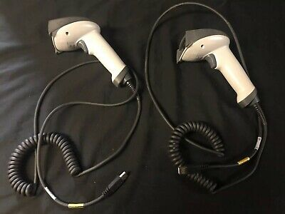 (2) HAND HELD 4600SP051P Barcode Scanners *Working*