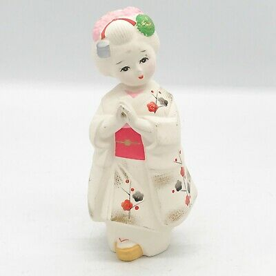 Vintage Chinese Japanese Oriental Figure Figurine Signed Ornament