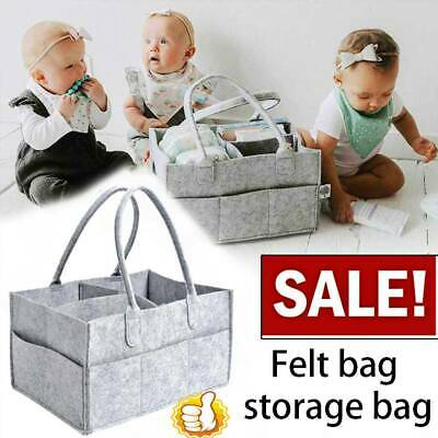 Baby Diaper Organizer Caddy Nappy Kids Storage Felt Diaper Storage Bag